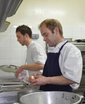 Quentin et Joseph en cuisine